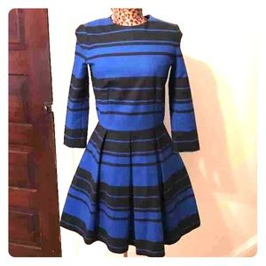 Gap blue and black striped dress Size 2